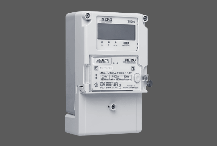 Single-phase multifunction meter in standard package