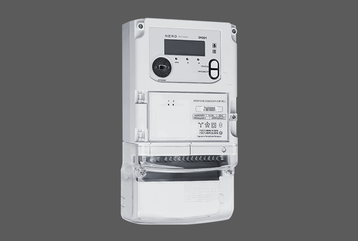 Three-phase system multifunction meter in standard package